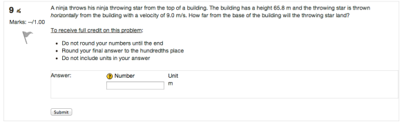 1st: This is the Moodle view your students will see when working a problem set.