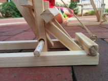 Next time around, I'd use a much smaller dowel.