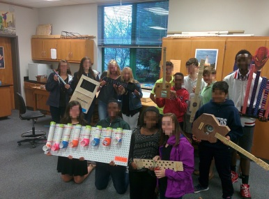 4th period with their instruments.